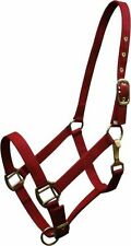 RED Triple Ply Nylon Western Horse Halter w/ Brass Hardware! NEW HORSE TACK!!