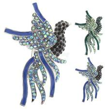 Fashion Colorful Crystal Peacock Bird Brooch Pins Jewelry Gifts
