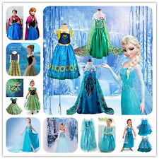 Kids Girls Dresses Elsa Frozen dress costume Princess Anna party dresses 2-10Y·