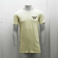 NEW Mens Balmain Yellow Feather Print Crew Neck T Shirt Tee Top GENUINE RRP £200