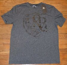 "Rock & Republic Texturized Logo Style T-Shirt Mens Graphic Tee ""INKY"" R&R"