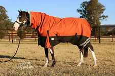 LOVE MY HORSE 1200D 300g 5'0 - 6'9 Waterproof Winter Turnout Combo Rug Orange