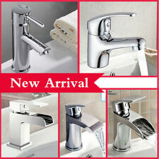 Mono Basin Mixer Tap Waterfall Cloakroom Sink Single Lever Tap & Pop Up Wastes