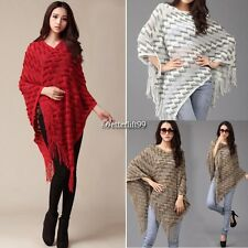 New Hot Women Batwing Cape Poncho Knit Top Pullover Sweater Coat Jacket BF9