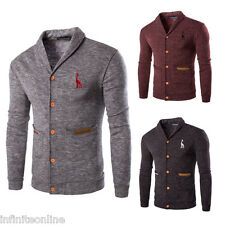 Fashion Men's Knitted Sweater Cardigan Casual Slim Fit Knitwear Coat Jacket Tops