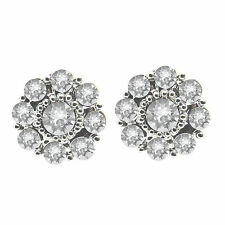 Crystal Flower Stud Earrings with Crystals Made by SWAROVSKI