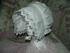 GIRLS/LADIES, WHITE VICTORIAN, EDWARDIAN, GENTRY, COIF HAT, BONNET