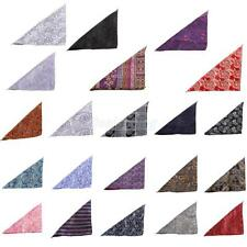 Men's Peiris Pattern Pocket Square Hankie Hanky Wedding Party Handkerchief Gifts