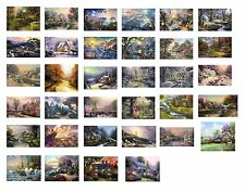 "landscape Wall Art Deco Thomas kinkade oil painting prints on canvas 24""x16"""