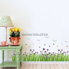 Flower Grass Waist Baseboard Living Room DIY Wall Stickers Home Decor Removable