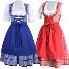 Women's German Bavarian Oktoberfest Dress Ladies Beer Maid Costume Fancy Dirndl
