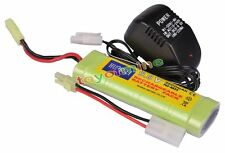 9.6V NiMH 2800mAh Battery Pack + Charger RC Car Airsoft