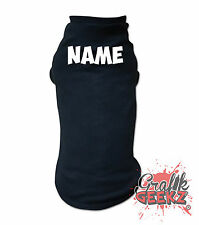 Personalised Name Dog Baby Rib T-Shirt by American Apparel