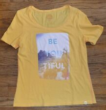 Life is Good Short Sleeve Fitted T-Shirt BE YOU TIFUL Authentic LIFE IS GOOD Tee
