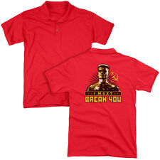 ROCKY DRAGO I MUST BREAK YOU Men's Polo Graphic Tee Shirt SM-3XL