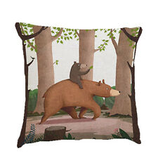 Funny Bear Cushion Covers Love Wins Cotton Linen Throw Pillow Case
