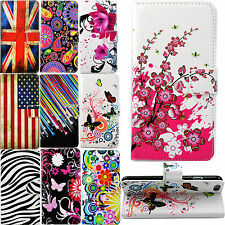 Folding Flip Stand Card Slots Wallet PU Leather Protective Case Cover For Phones