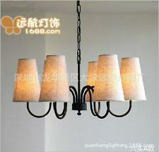 Simple American Style Wrought Iron Chandeliers Ceiling Restaurant Lamps Light
