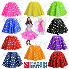 Ladies POLKA DOT ROCK AND ROLL 50s SKIRT and UNDERSKIRT OPTION COSTUME Hen Party