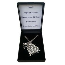 Personalised Game of Thrones Necklace   Custom Gift Box UK