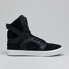 Supra Skytop II Skate Shoes Trainers Black/White Sizes UK 6,7,8,9,10