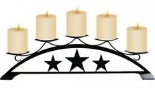 Village Wrought Iron C-PLB-45 Western Star - Wrought Iron Pillar Candle Holder.