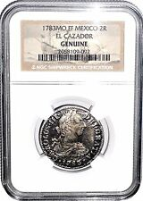 1783 MO FF 2 REALES El Cazador Shipwreck Coin,NGC Certified Excellent Condition