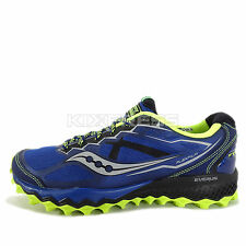 Saucony Peregrine 6 [S20302-2] Trail Running Blue/Citron-Black