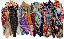 Job Lot Vintage Wholesale Mixed Scarves Inc Silk 20, 30, 50, 100 Units