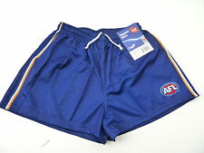 """AFL WEST COAST EAGLES  """"AWAY"""" ADULT FOOTY SHORTS - BRAND NEW"""