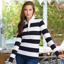 Front Row Women's striped rugby shirt (FR111)