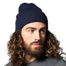 Nutshell Knitted Turn UP Beanie Hat Mens Ladies Unisex Woolly Winters Cap NS001