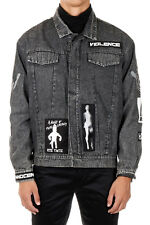 KTZ Man Denim Jacket with Patches New with Tags and Original