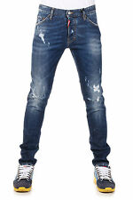 DSQUARED2 Dsquared² New Men Blue Denim Pants Jeans COOL GUY Made Italy NWT