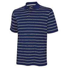 Adidas Mens Textured Stripe Collared Polo T Shirt Short Sleeves Casual Tops AD01