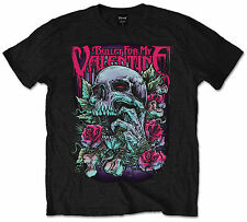 Bullet For My Valentine Skull Red Eyes T-Shirt Official BFMV Mens Black Band Tee