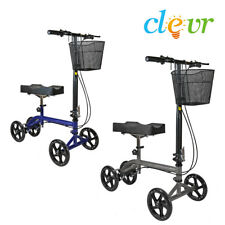 Clevr Foldable Knee Walker Scooter Steerable Medical Pad Leg Crutch