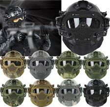 Tactical Fast Helmet Paintball Mask Goggles & G4 System Airsoft Games Activities