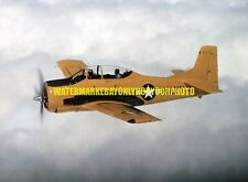 USN Navy North American T-28B Trojan Aircraft Color Photo  Military T 28 Plane