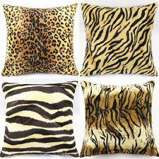 Leopard Zebra Animal Print Throw Pillow Cases Cushion Covers Home Sofa Car Décor