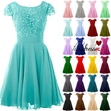 Stock Formal Short Bridesmaid Homcoming Dresses Evening Prom Party Cocktail Gown