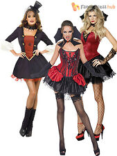Ladies Sexy Gothic Vampire Fancy Dress Costume  Vamp Halloween Womens Outfit