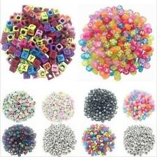 100PCS Making DIY Cube Beads Loose Jewelry Letter Acrylic Random Alphabet Spacer