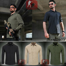 Mens Outdoor Tactical Combat Long Sleeve SHIRT Military Resistant Hiking Hunting
