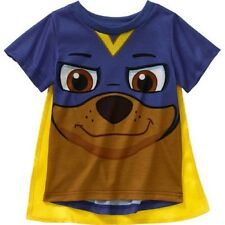 Paw Patrol Toddler Boys' Caped Graphic Tee Shirt, Dazzling Blue, 2T, 3T, 4T, 5T
