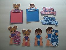 3D-U Pick - Boy Girl Baby Potty Training Title Scrapbook Card Embellishment BA3
