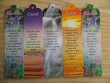 C Names Personalised Name Bookmark Bookmarks For Books Small Reading Gift Ideas