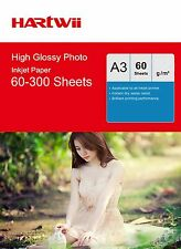 Hartwii A3 180 / 240 / 260 Gsm High Glossy Photo Inkjet Paper  210x497mm AU Send
