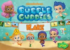 Bubble Guppies Personalised Placemat (A4 Size) great gift stocking filler