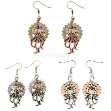 Gothic Steampunk Women Long Octopus Earring Hook Earring Dangle Drop Jewelry